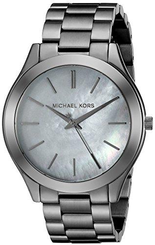 Michael Kors Women's Slim Runway Gunmetal Watch MK3413
