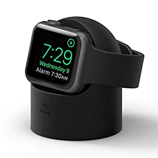 elago W2 Stand Designed for Apple Watch Stand Compatible with All Apple Watch Series and Night Stand Mode (Black)