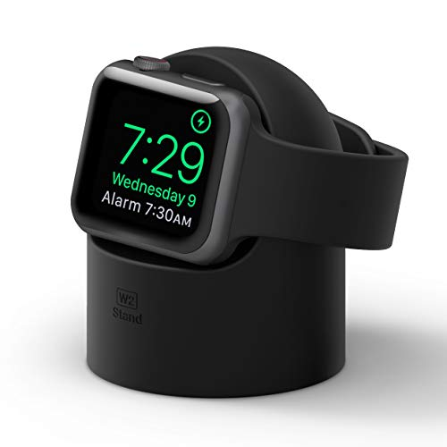elago W2 Stand Designed for Apple Watch Stand Compatible with iWatch Series 5, Series 4, Series 3, Series 2, Series 1, 44mm, 42mm, 40mm, 38mm, Support Night Stand Mode (Black)