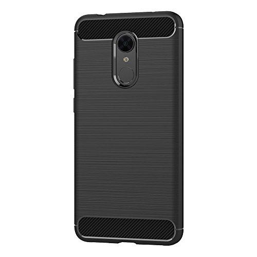 AICEK Funda Xiaomi Redmi 5 Plus, Negro Silicona Fundas para Redmi 5 Plus Carcasa Xiaomi Redmi 5 Plus Fibra de Carbono Funda Case (5,99 Pulgadas)