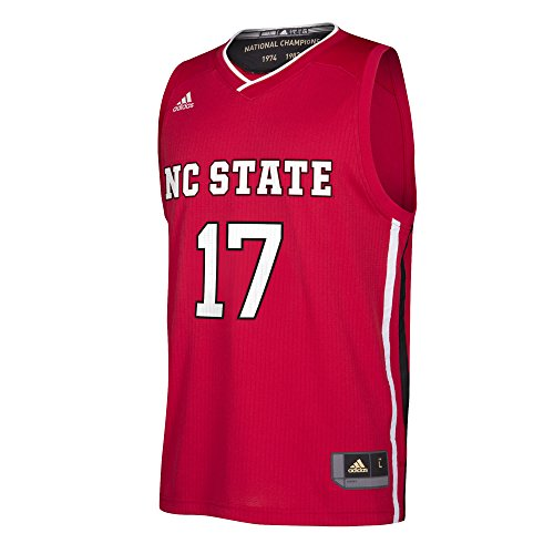 adidas NCAA North Carolina State Wolfpack Replica Jersey, Medium, Red