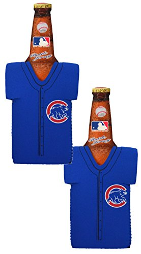 Official Major League Baseball Fan Shop Authentic MLB 2-pack Insulated Bottle Team Jersey Cooler (Chicago Cubs)