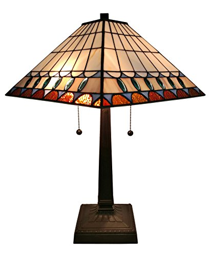 Amora Lighting AM238TL14 Tiffany Style Mission Table Lamp 21 In High by Amora Lighting