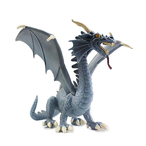Warmtree 6 inch Realistic Dragon Model Plastic Flying Dragon Figurines Toys Gifts for Kids' Collection (Plastic Dragon Models)