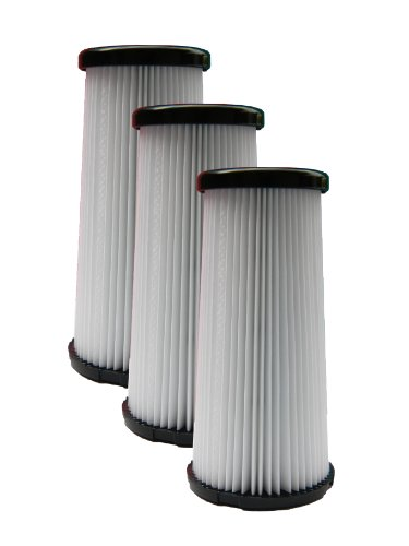 (3) Kenmore DCF-5 Pleated HEPA Tapered Filter w/activated Charcoal, Upright, Bagless Quck Clean Vacuum Cleaners, 618683, 02080011000, 02039000000