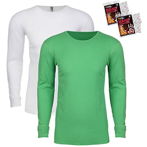 Edge Long Sleeve Thermal Shirt (Next Level Men's Long Sleeve Thermal Shirt (Pack of 2), XL, 1 White / 1 Envy)