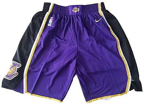 Promozione delle vendite foto ufficiali vari stili canottejerseyNBA Pantaloncini Los Angeles Lakers; Shorts da Basket, Jersey  Maglia Canotta