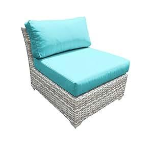 TK Classics Fairmont Armless Sofa, Set of 2, Aruba