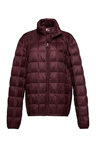 ble Down Puffer Jacket Lightweight Coat Ruby Wine M ()