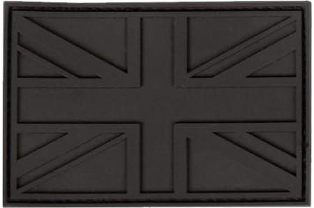 Parche de goma con velcro, diseño de la bandera del ejército británico Union Jack, negro: Amazon.es: Deportes y aire libre