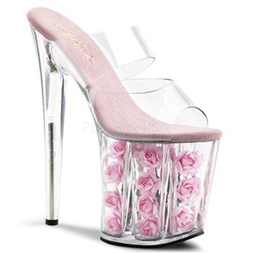 Pink Sandalias Flowers Clr Mujer Pleaser b I4n8661