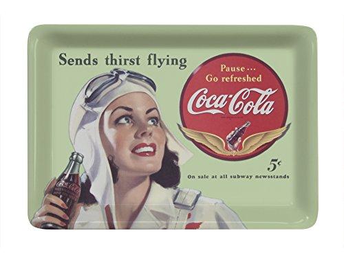 (Platex 27 x 20 cm Coca Cola Melamine Tray Flying Green)