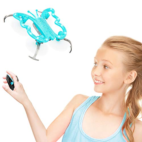 (Force1 Hand Controlled Drone for Kids - Monarch Butterfly Drone, Butterfly Toys, Flying Toys for Girls and Boys w/Hand Operated Mini Drones Remote (Blue))