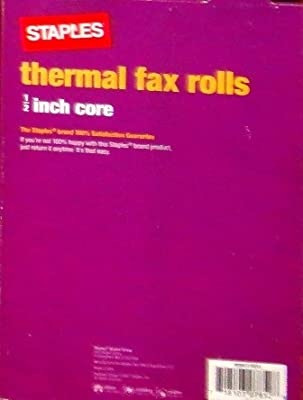 Staples Thermal Fax Rolls 1/2 Inch Core - 6 Rolls