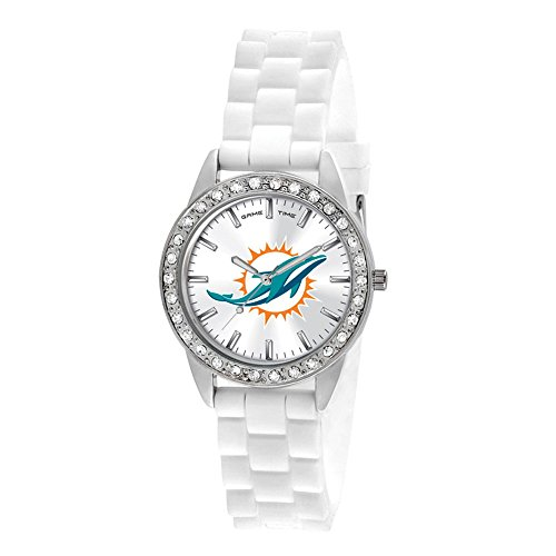 Gifts Watches Ladies NFL Miami Dolphins Frost Watch ()