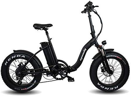 Speedy Ebike Elegant 750w 52v 17 5ah Bicicletta Elettrica Pieghevole Fat Bike Black Amazon It Sport E Tempo Libero