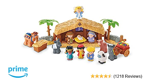 amazoncom fisher price little people a christmas story toys games