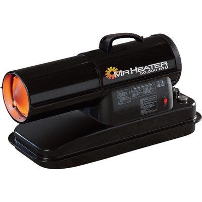 Mr. Heater F270255 MH50KR Contractor 50,000-BTU Forced-Air Kerosene Heater by Mr. Heater