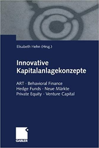 Innovative Kapitalanlagekonzepte: ART · Behavioral Finance Hedge Funds · Neue Märkte Private Equity · Venture Capital