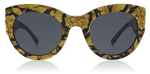 Versace Women's Bold Frame Sunglasses, Yellow Black/Grey, One ()