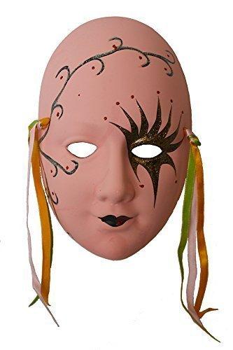 Porcelain Colorful Mask, a Kind of Earthenware Mask, Size: 8