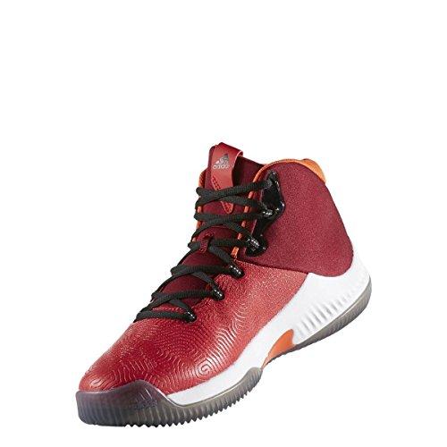 Adidas Crazy Hustle, Chaussures de Basketball Homme, Rouge (Escarl/Negbas/Buruni), 44 EU