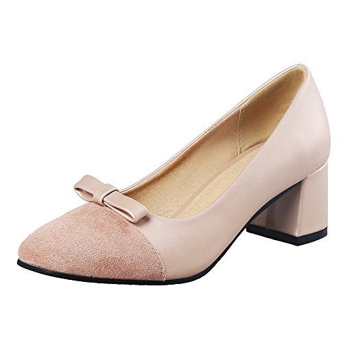 Latasa Womens Bow Casual Pumps Albicocca