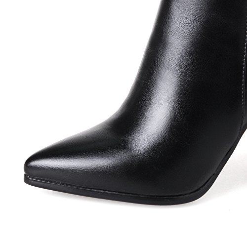 Toe Black Boots Pointed Urethane Boots Fashion Womens BalaMasa w0IqA1x