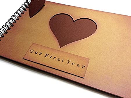First Year Anniversary Memory Book Scrapbook Photo Album Blank