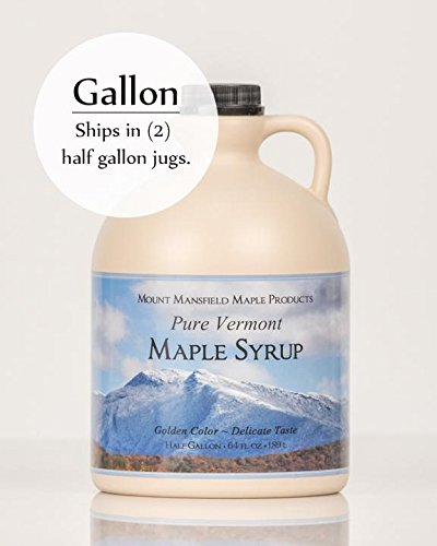 Mansfield Maple Pure Vermont Maple Syrup in Plastic Jug Golden Delicate (Vermont...