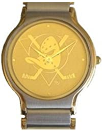"""Mighty Ducks"" Collectible Retro Ladies 2-tone Gold and Stainless Steel with Embossed Gold Dial and 2-tone Band"