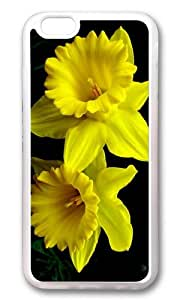 iPhone 6 Plus Case,VUTTOO Stylish Yellow Daffodils Soft Case For Apple iPhone 6 Plus (5.5 Inch) - TPU Transparent