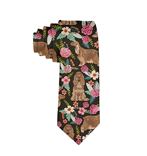 Mens & Boys Formal Necktie Cocker Spaniel Regular For Suit Business College Festival Smooth Polyester Ties