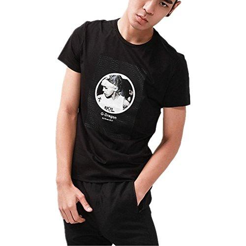 SHISHANG cotone mercerizzato T-shirt che basa la camicia europei e americani sciolto primavera girocollo a maniche corte e l'estate bianco nero rosa Black
