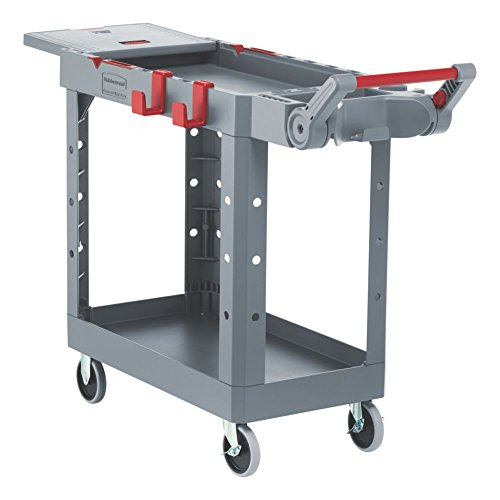 Rubbermaid Commercial Products 1997207 Heavy Duty Adaptable Utility Cart, Gray, Small, 46.20