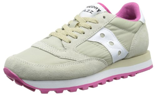 Saucony Originals Damen Jazz Original Sneaker Tan / Weiß / Pink