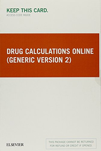 Drug Calculations Online (Generic Version 2) - Access Card, 1e by Mosby