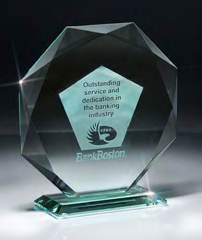 - Edco Awards & Specialties, Traditional Jade Octagon Glass award and trophy