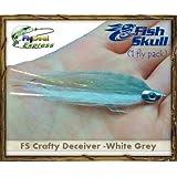 FISH-SKULL CRAFTY DECEIVER WHITE/GREY - Streamer (1-fly)