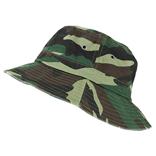 Trendy Apparel Shop Oversize XXL - XXXL Short Brim Outdoor Bucket Hat - Camo - 2XL-3XL]()