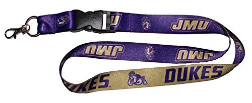 WinCraft NCAA James Madison JMU Dukes Premium Lanyard Key Chain (James Madison Dukes Jmu University)