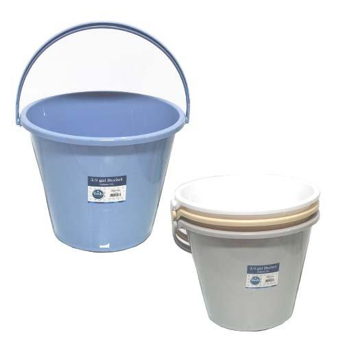 Pl. Bucket 3.9 Gallons 15L 4 Colors, Case of 24