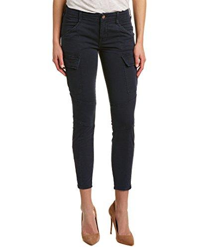 J Brand Jeans Womens Houlihan Mid Rise Cargo  Distressed Black Iris  30