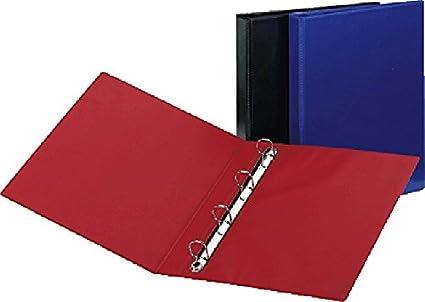 5 Star - Archivador de anillas A4 25 mm 275 x 320 x 45 mm capacidad de 190 hojas, color negro: Amazon.es: Oficina y papelería