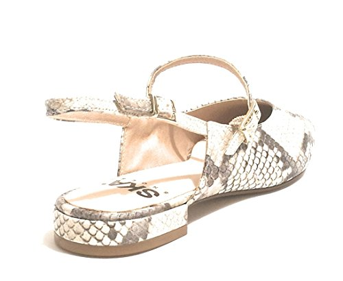 Pelle Punta Ballerina Natural Stampa da Pitone Scarpe Donna in SKA A Shoes DS18SK10 MOD CREOLO tqXvfPwPA1