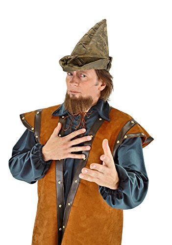 Moss Hood Hat Green Robin (UHC Men's Robin Hood Peter Pan Elf Woodsman Moss Green Hat Costume)