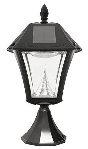 gama sonic baytown ii solar outdoor led light fixture pole post wall. Black Bedroom Furniture Sets. Home Design Ideas