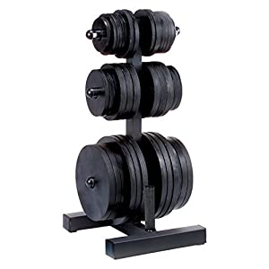 Body Solid Olympic Plate Tree and Bar Holder