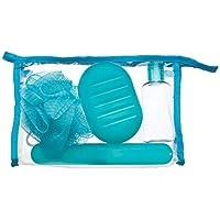 Kit Higiene para Viagem, Ricca, Azul/Rosa