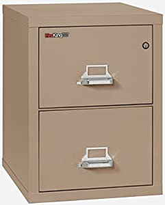 Fireking Fireproof Vertical File Cabinet 2 Letter Sized Drawers Impact Resistant